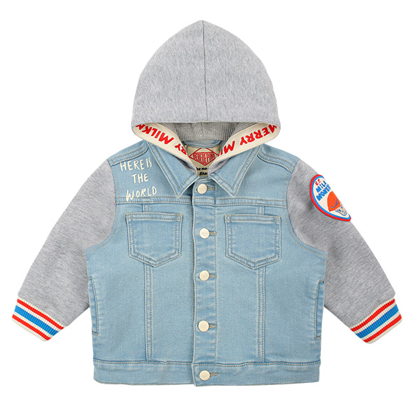 Billy 17 baby hooded denim jacket  NEW SPRING