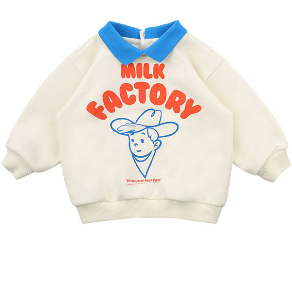 Milk factory baby collar sweatshirt  NEW SPRING