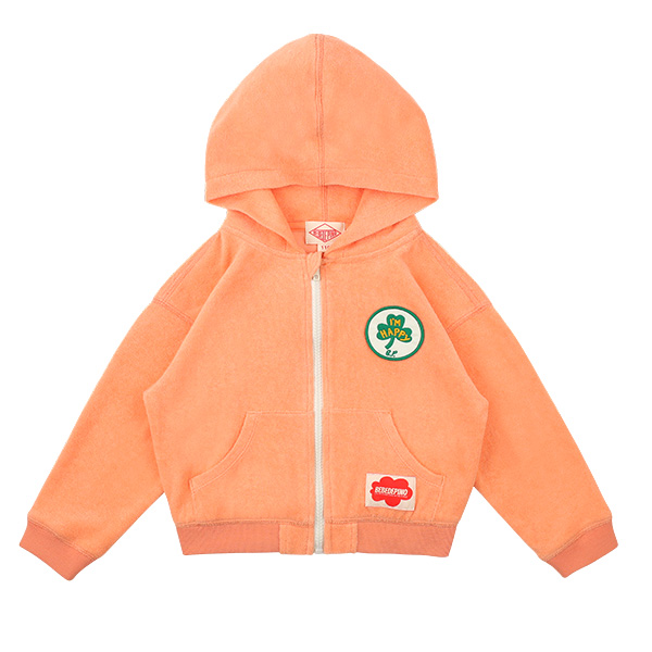 Clover zip up hooded terry jumper