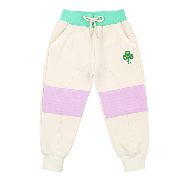 Clover multi color patch sweat pants