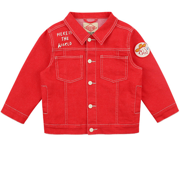 Number 11 red denim jacket