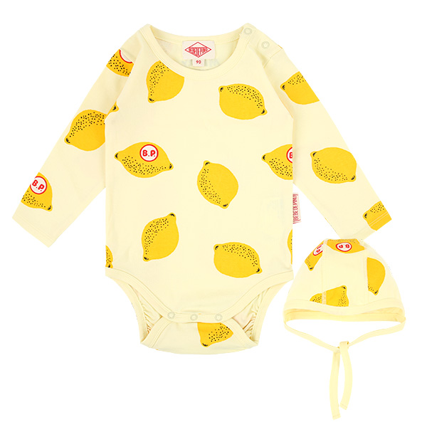 Multi lemon baby bodysuit set