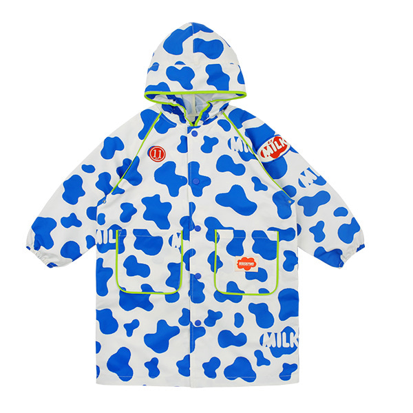 Milk pattern rain coat