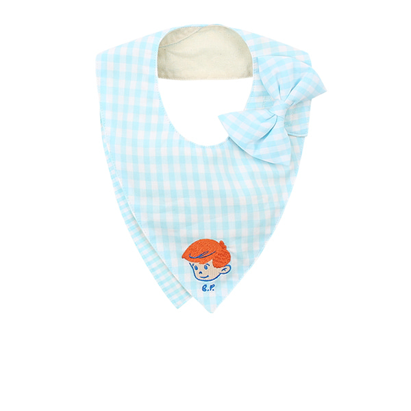 Milk man baby gingham check scarf bib