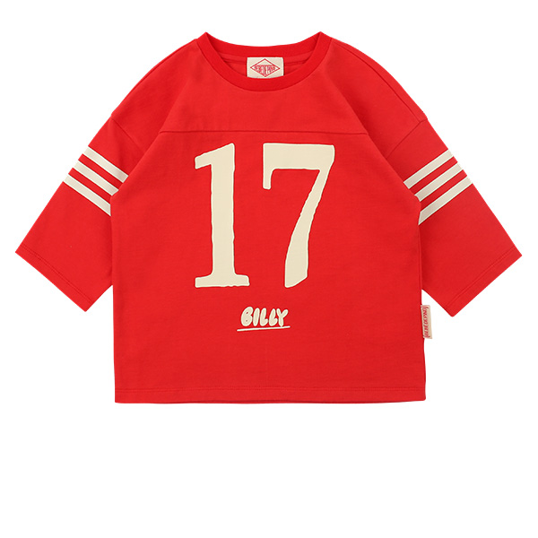 Number 17 three quarter sleeve tee  NEW SPRING