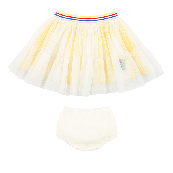 Tulip baby yellow check tutu skirt bloomer set  NEW SPRING