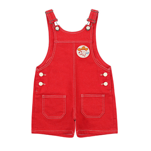 Ducky out pocket red denim overall  NEW SPRING