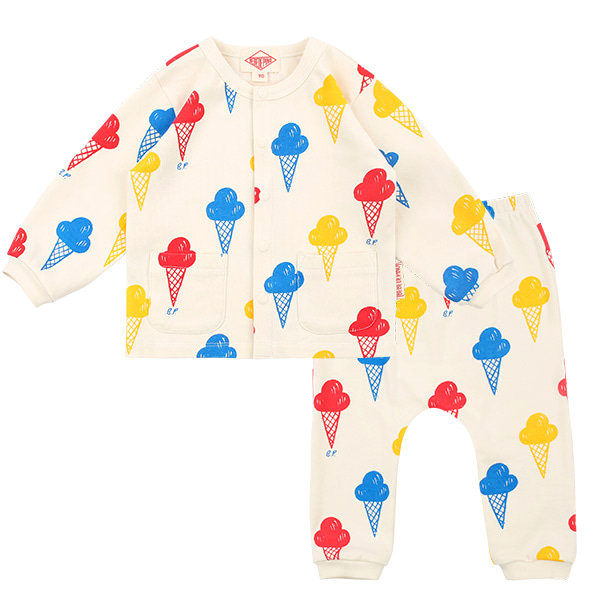 Multi ice cream baby homewear set  NEW SPRING