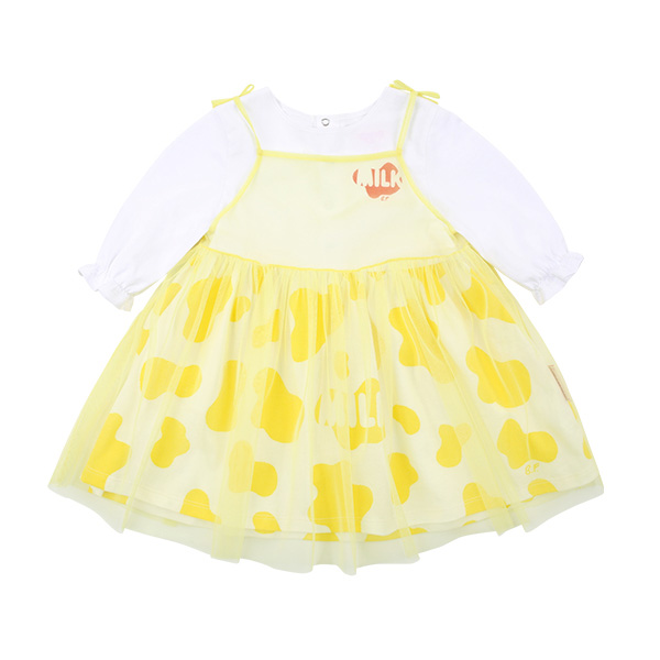 Milk pattern baby tutu ribbon dress  NEW SPRING