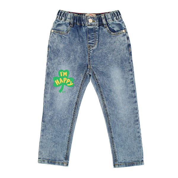 Clover stone washing denim pants