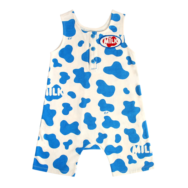 Milk pattern jersey overall  NEW SUMMER