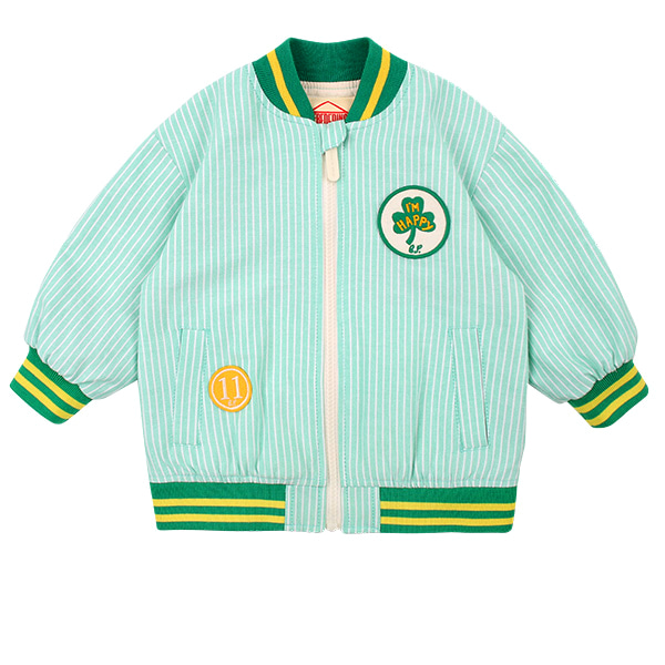 Lucky clover baby bomber jacket