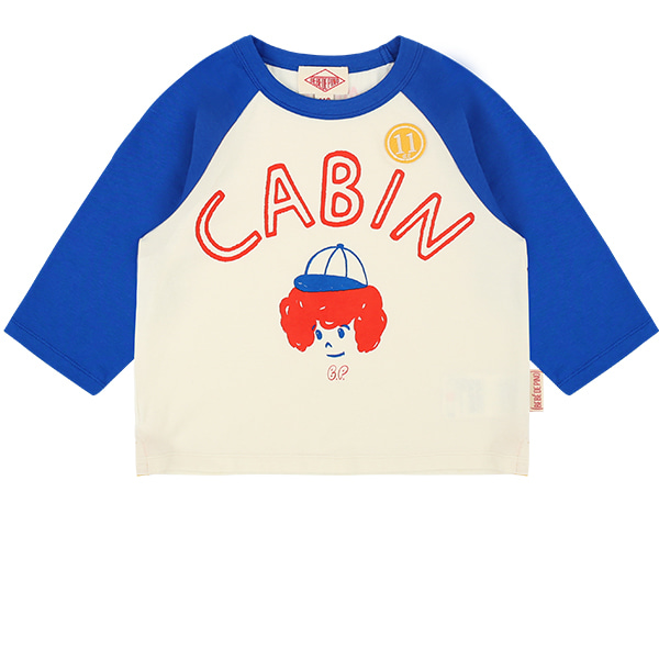 Cabin raglan three quarter sleeve tee  NEW SUMMER