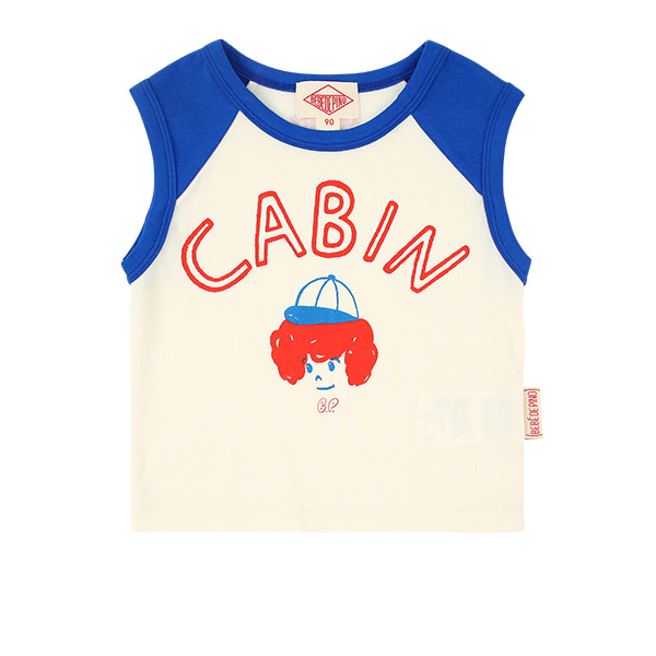 Cabin baby raglan sleeveless tee  NEW SUMMER