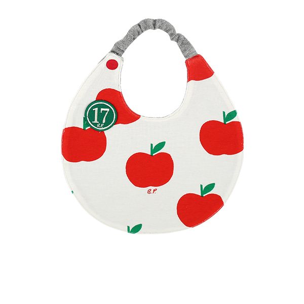 All over apple baby circle bib  NEW SUMMER