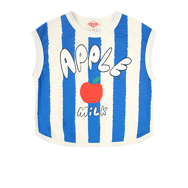 Apple milk bold stripe sleeveless tee  NEW SUMMER
