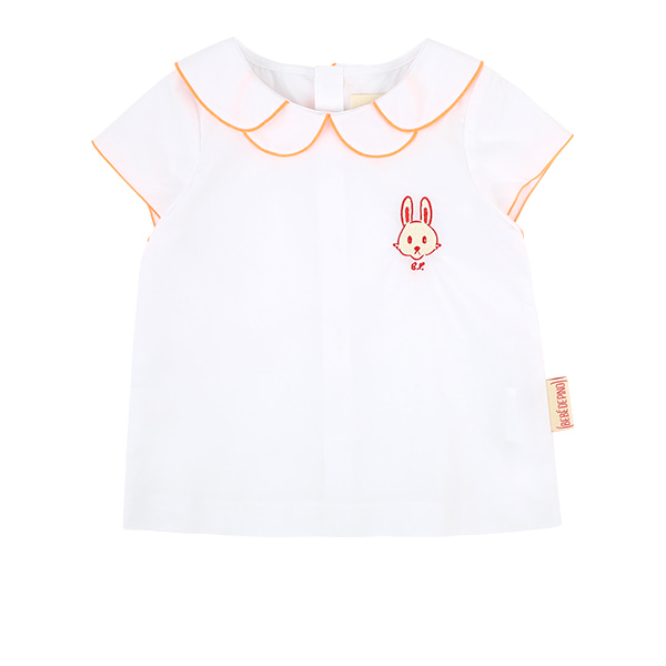 Bunny baby double collar blouse  NEW SUMMER