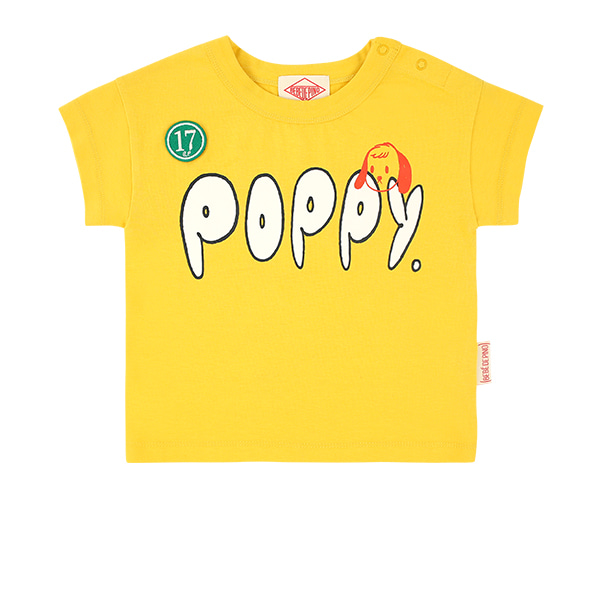 Poppy baby drop shoulder short sleeve tee  NEW SUMMER