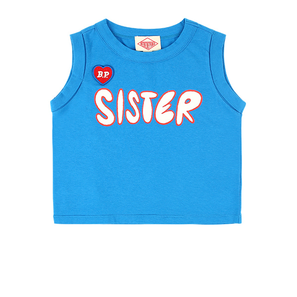 Sister sleeveless crop tee  NEW SUMMER