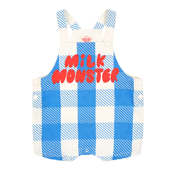 Milk monster baby blue shepherd check short playsuitNEW SUMMER