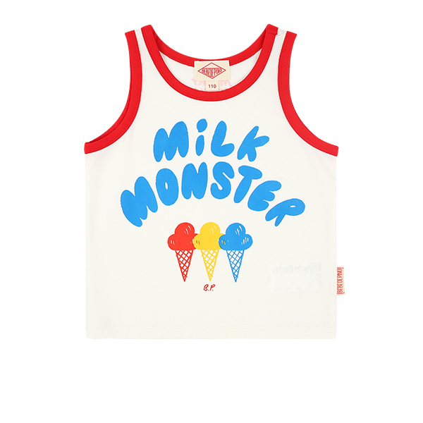 Milk monster color block tank topNEW SUMMER