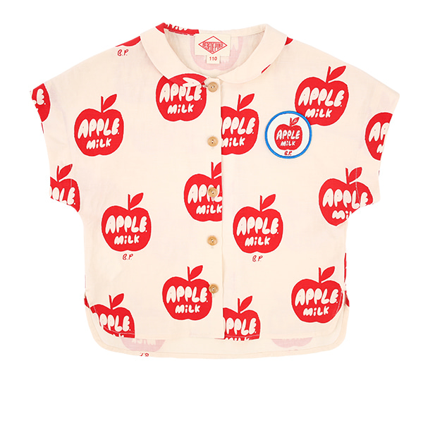 All over apple milk linen shirt  NEW SUMMER