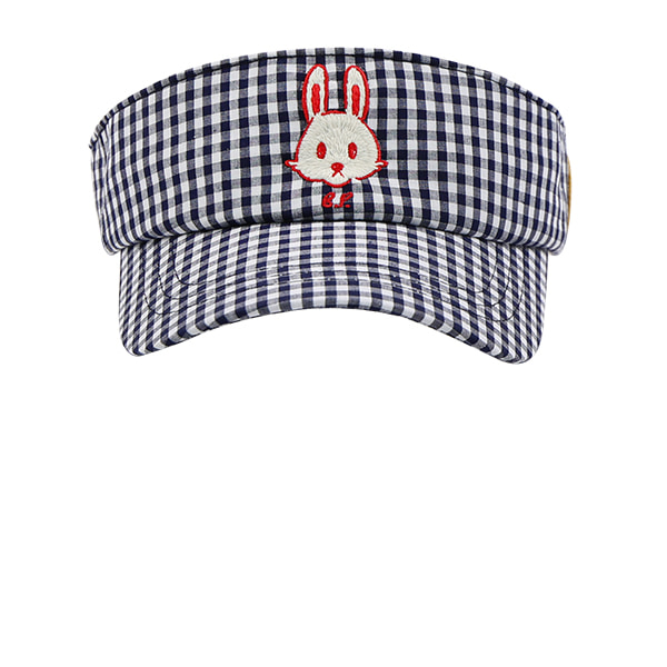 Bunny gingham check sun visor  NEW SUMMER