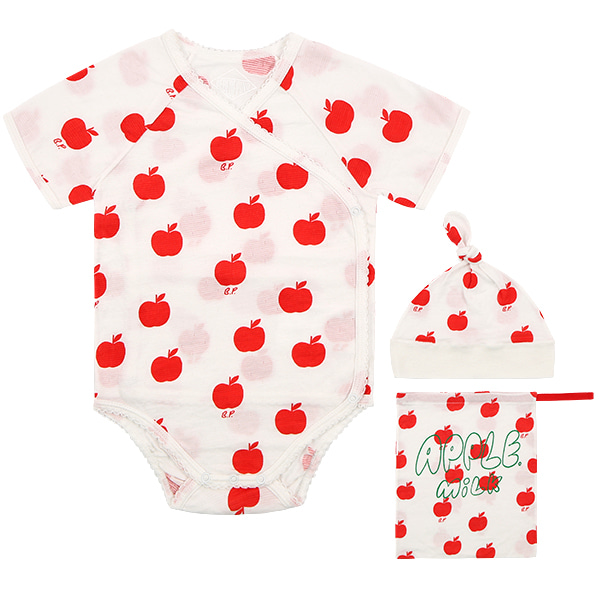 All over apple newborn bodysuit set  NEW SUMMER