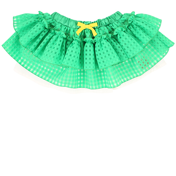 Apple milk green check tutu skirt set  NEW SUMMER