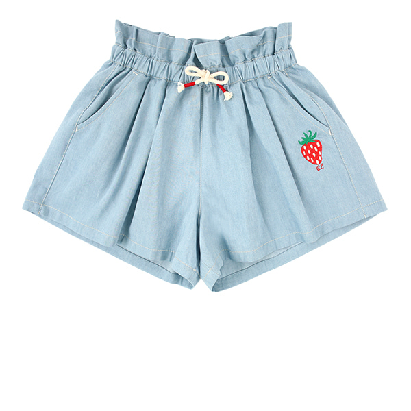 Strawberry tencel denim culottes shorts  NEW SUMMER
