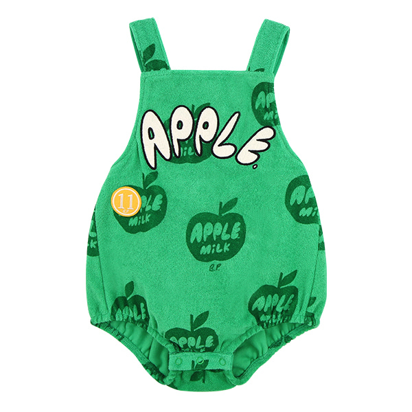 All over apple milk baby terry playsuit  NEW SUMMER