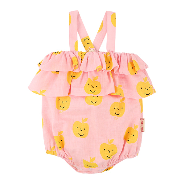 All over yellow apple baby ruffle summer suit  NEW SUMMER