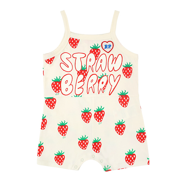 All over strawberry baby jersey playsuit  NEW SUMMER