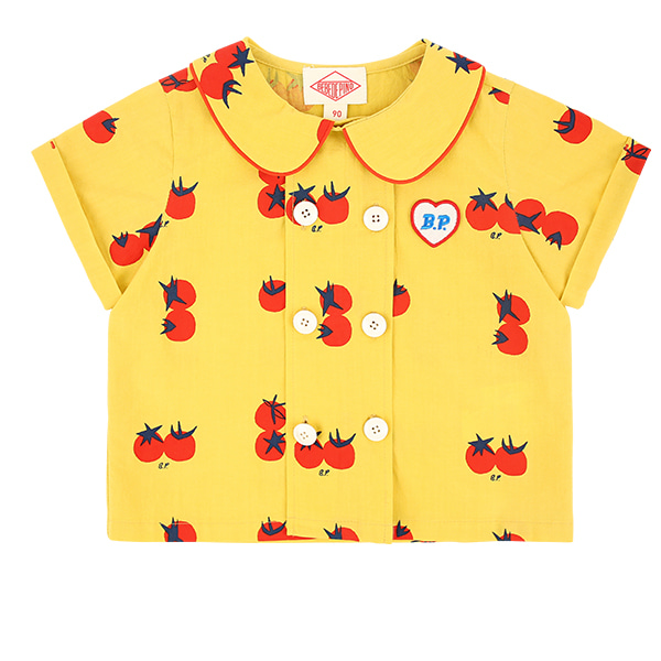 All over cherry tomato baby pin tuck shirt  NEW SUMMER