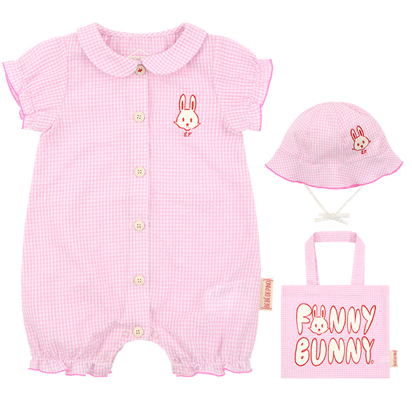 Bunny newborn seersucker overall set  NEW SUMMER